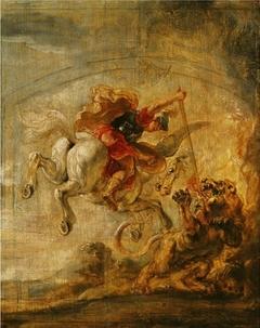 Bellerophon_riding_pegasus_fighting